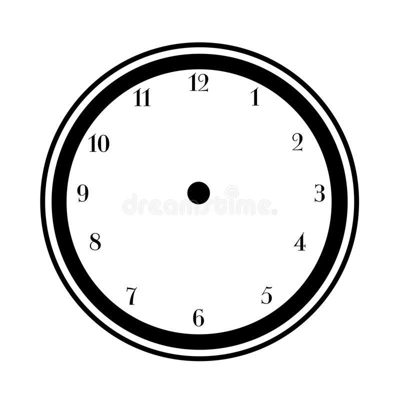 Reloj en blanco de la cara libre illustration
