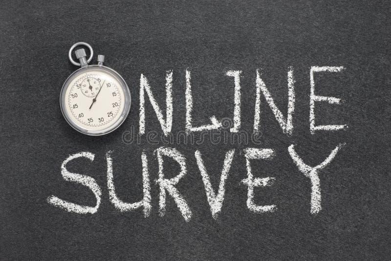 Reloj en línea de la encuesta imagen de archivo libre de regalías