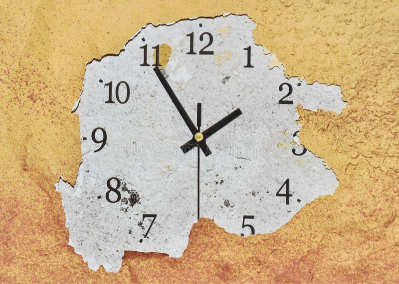 Reloj en la pared foto de archivo
