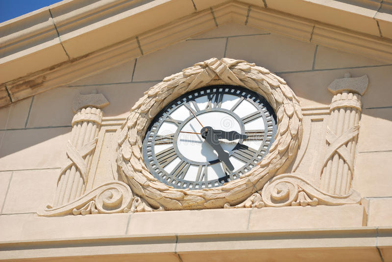 Reloj en palacio de justicia de condado de Charlton foto de archivo libre de regalías