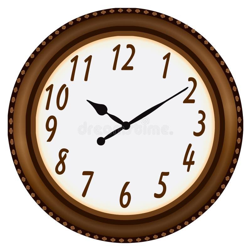 Reloj en un marco circular ilustración del vector. Ilustración de ...