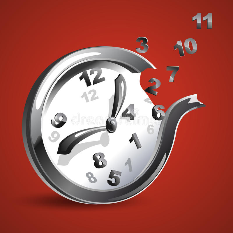 Reloj futurista con números del vuelo libre illustration