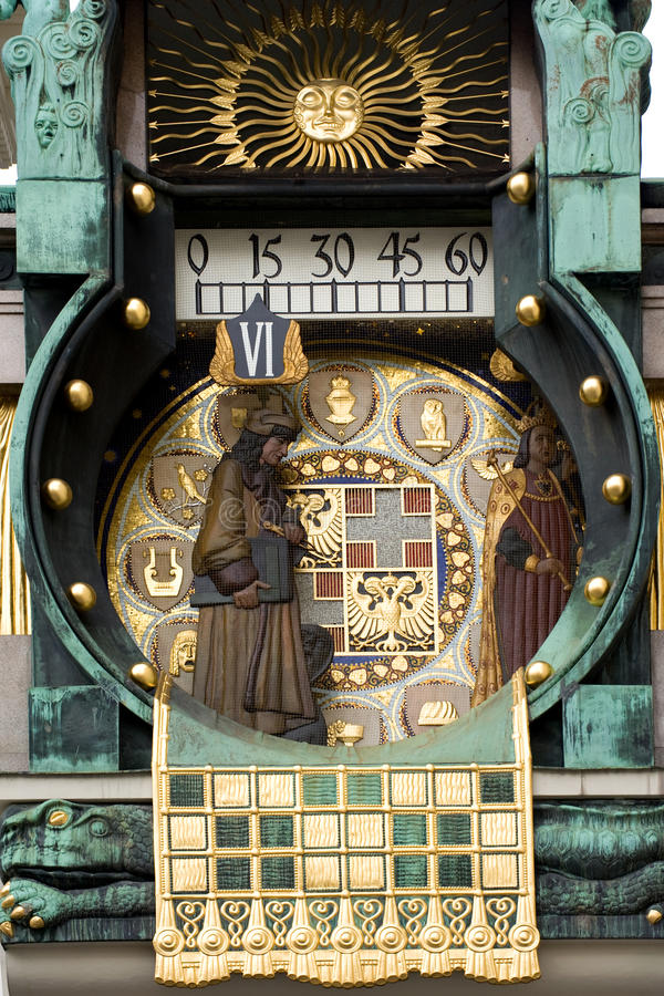 Reloj hermoso imagen de archivo