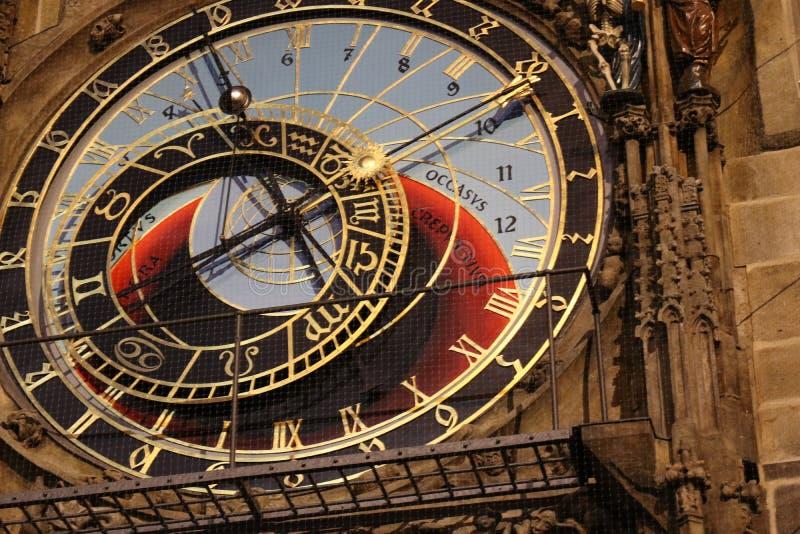 Reloj histórico Orloj en Praga foto de archivo libre de regalías