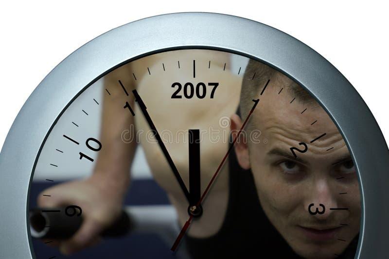 Reloj juguetón imagen de archivo libre de regalías