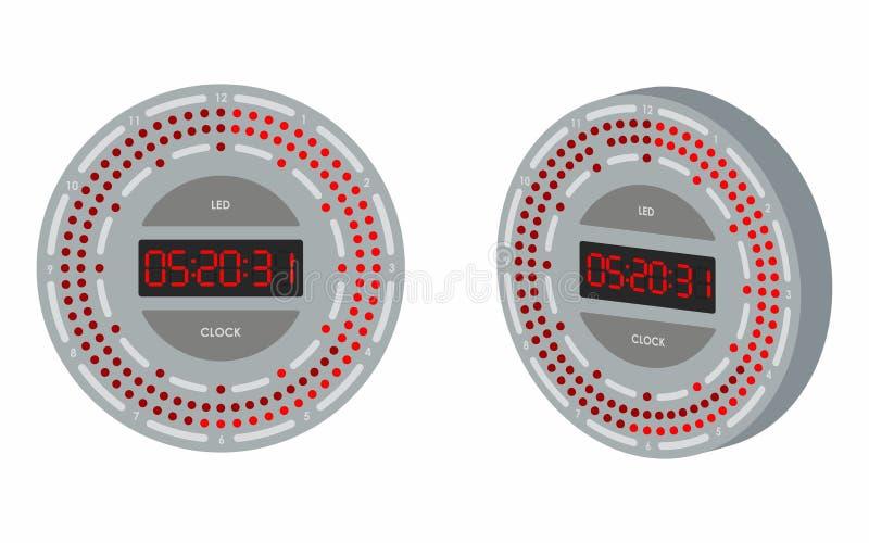 Reloj llevado coloreado stock de ilustración
