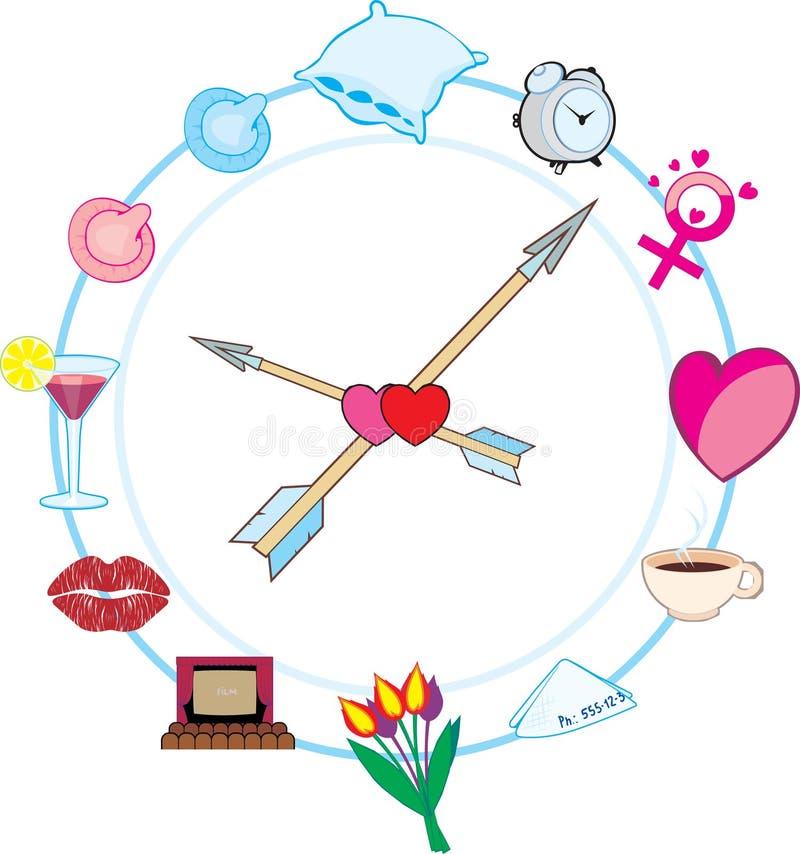 Reloj Macho ilustración del vector