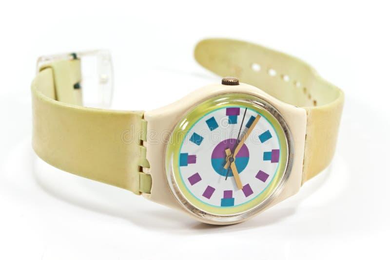 Reloj plástico fotos de archivo