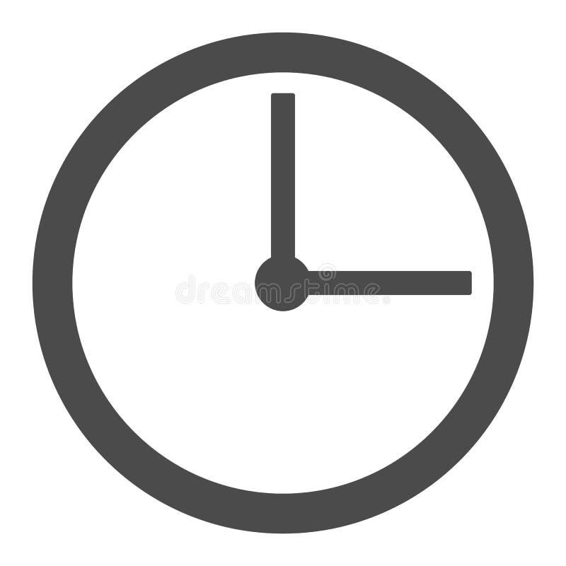 Reloj plano de la pared con el icono gris del vector del estilo de las flechas vector eps10 del esquema del reloj de pared en el  stock de ilustración