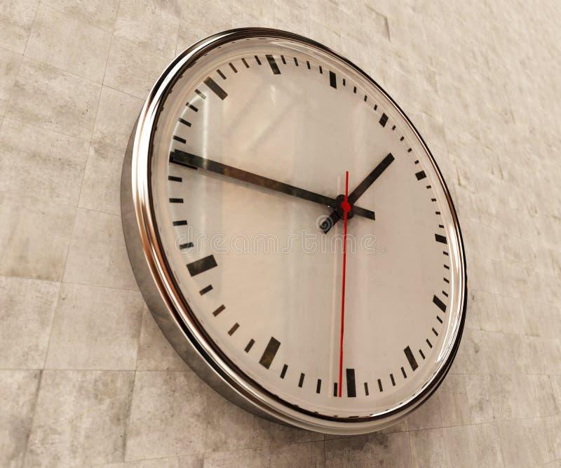Reloj realista de la oficina foto de archivo