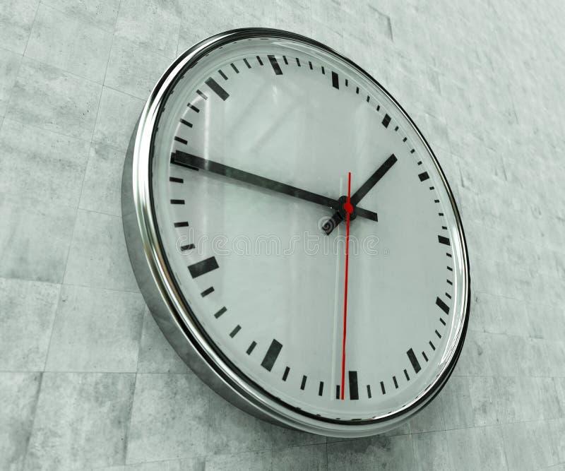 Reloj realista de la oficina fotografía de archivo libre de regalías