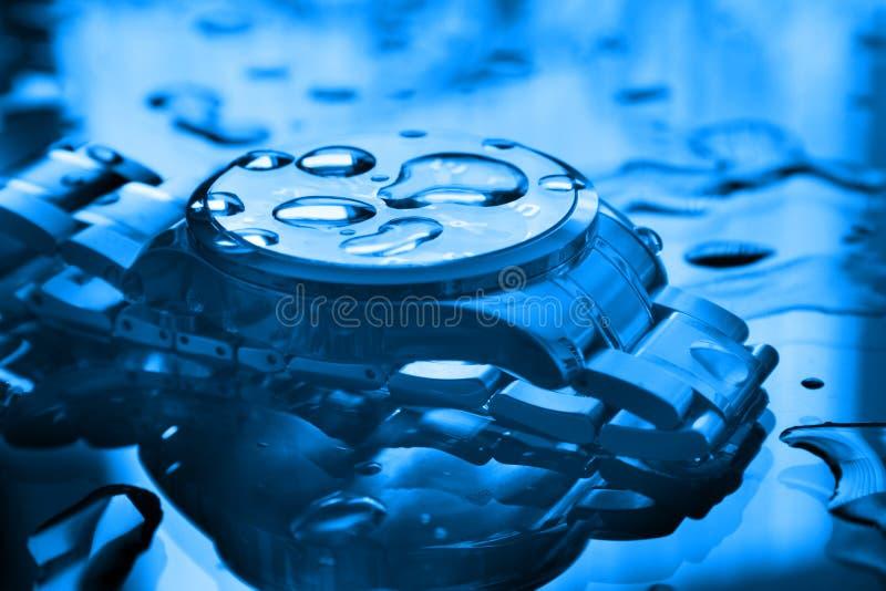 Reloj resistente de agua fotografía de archivo