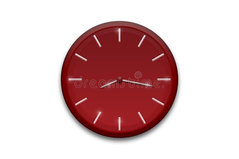 Reloj rojo stock de ilustración