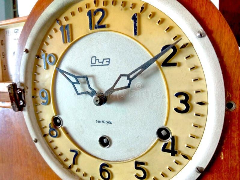 Reloj ruso Yantar del viejo vintage imagen de archivo