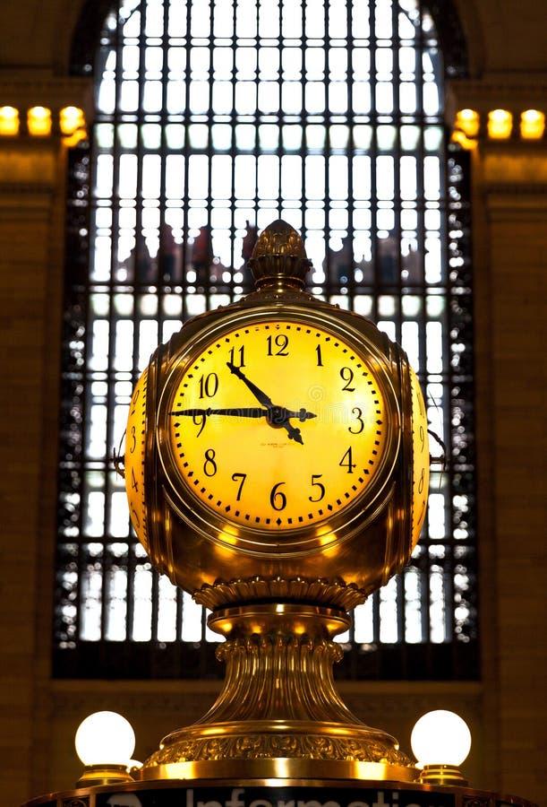 Reloj terminal de Grand Central, New York City imagenes de archivo