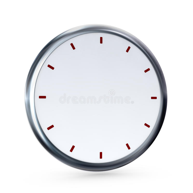 Reloj vacío stock de ilustración