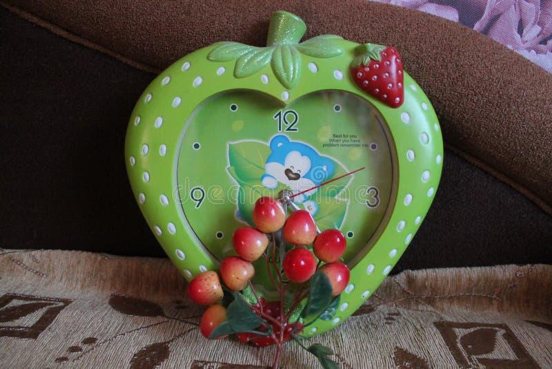 Reloj verde foto de archivo libre de regalías
