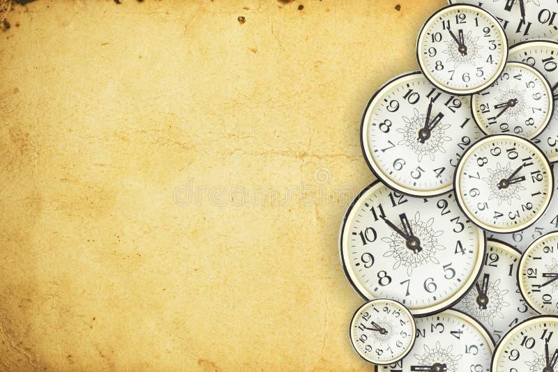 Reloj viejo stock de ilustración