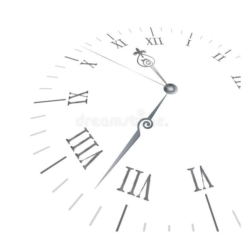 Reloj viejo con los números romanos stock de ilustración