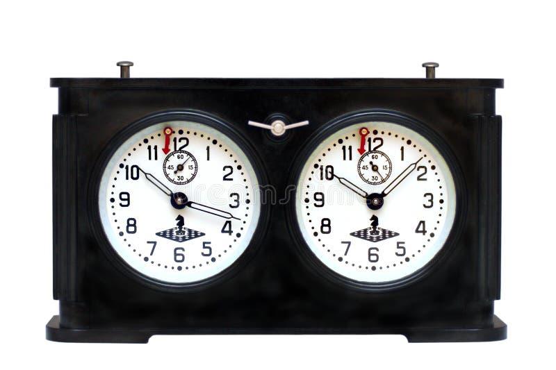 Reloj Viejo Del Ajedrez Fotografía de archivo libre de regalías