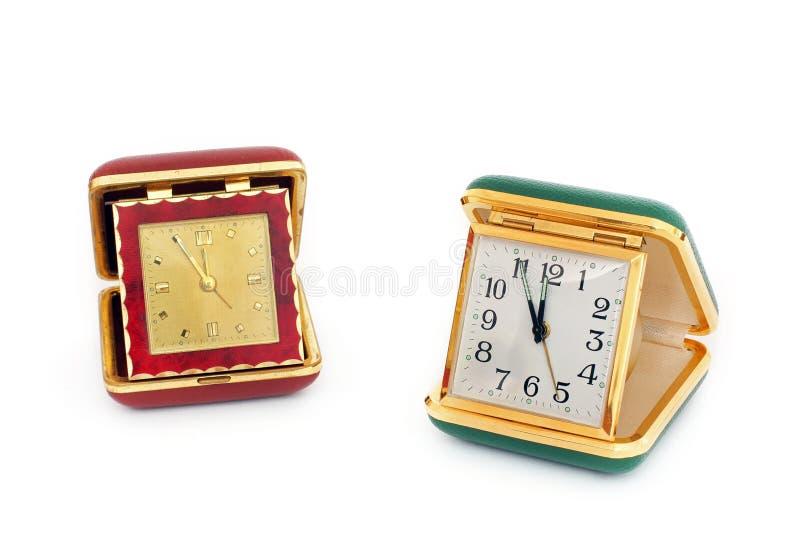 Reloj viejo del camino Reloj retro fotografía de archivo
