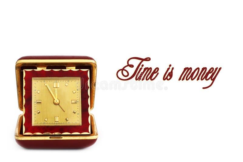 Reloj viejo del camino Reloj retro El tiempo es oro imágenes de archivo libres de regalías