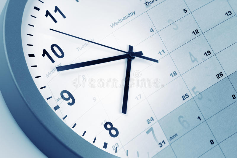 Download Reloj y calendario foto de archivo. Imagen de objetos - 41918582