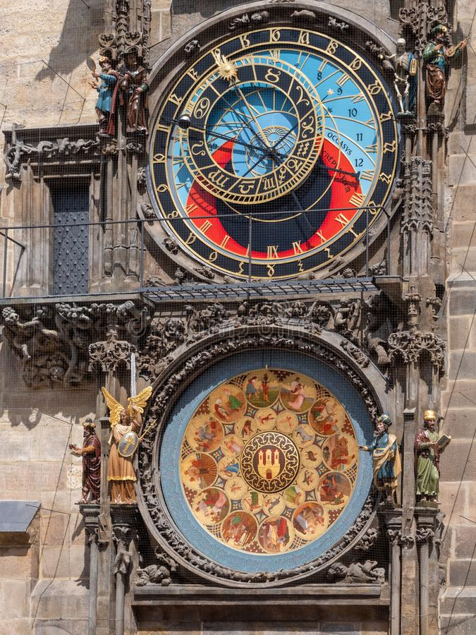 Reloj y calendario astronómicos, Praga, República Checa de Praga imagen de archivo libre de regalías