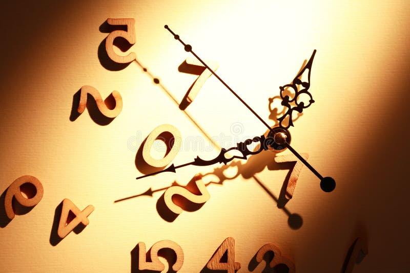 Reloj y dígitos imágenes de archivo libres de regalías