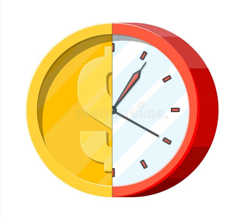 Reloj y moneda de oro libre illustration