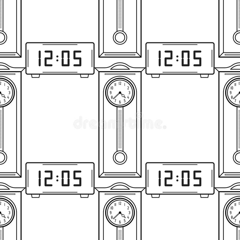 Reloj Y Reloj De Pie Electrónicos, Objetos Lineares Planos Modelo ...