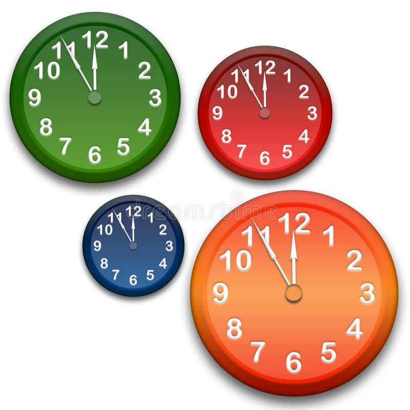 Relojes stock de ilustración