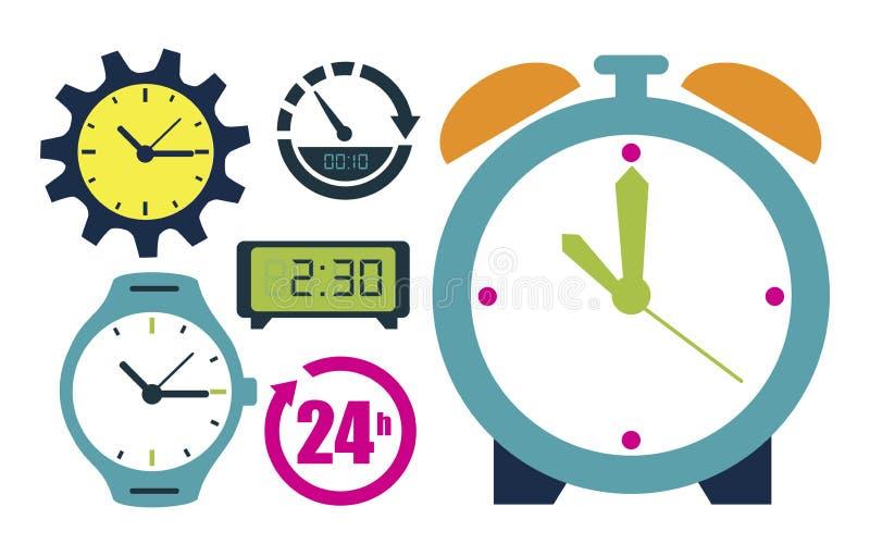 relojes ilustración del vector