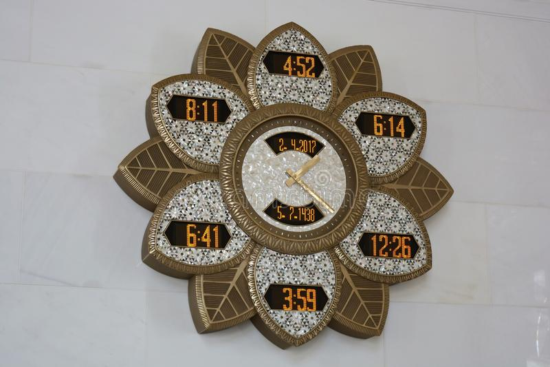 Relojes, Abu Dhabi foto de archivo