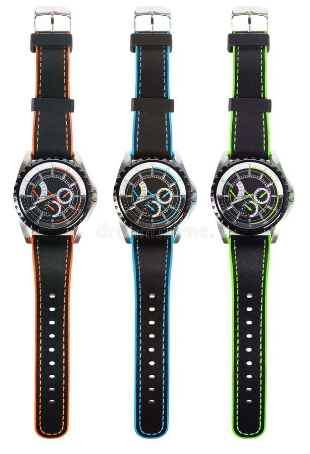 Relojes coloridos foto de archivo