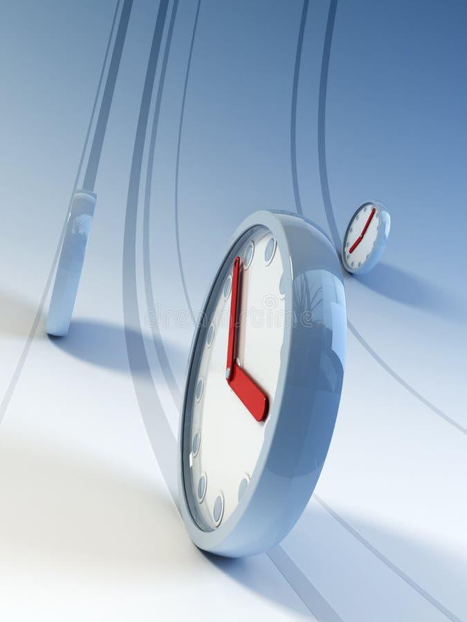 Relojes corrientes ilustración del vector