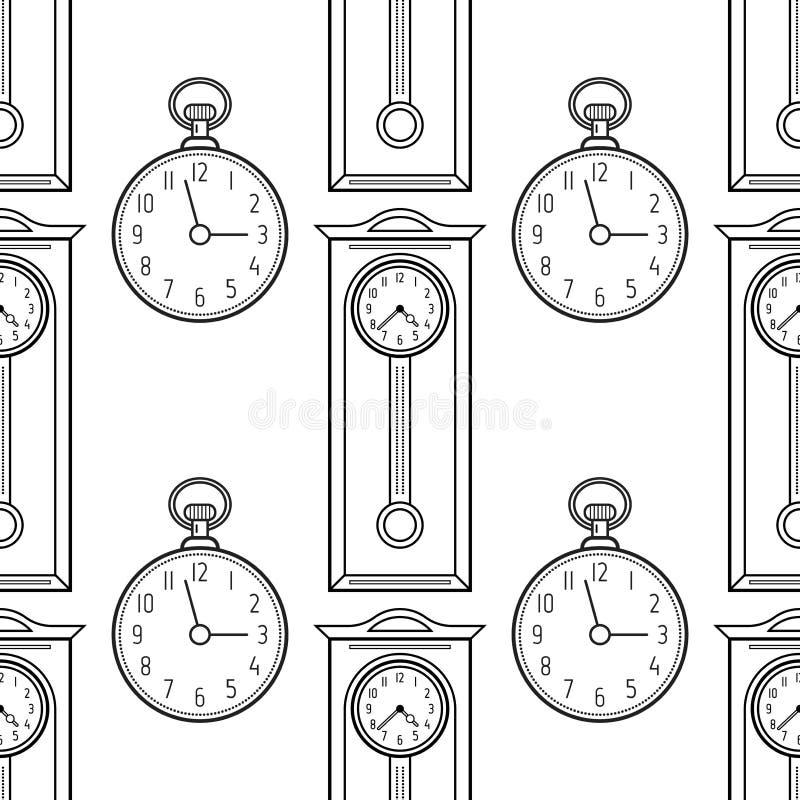 Relojes De Bolsillo Y Reloj De Pie, Objetos Lineares Planos Modelo ...