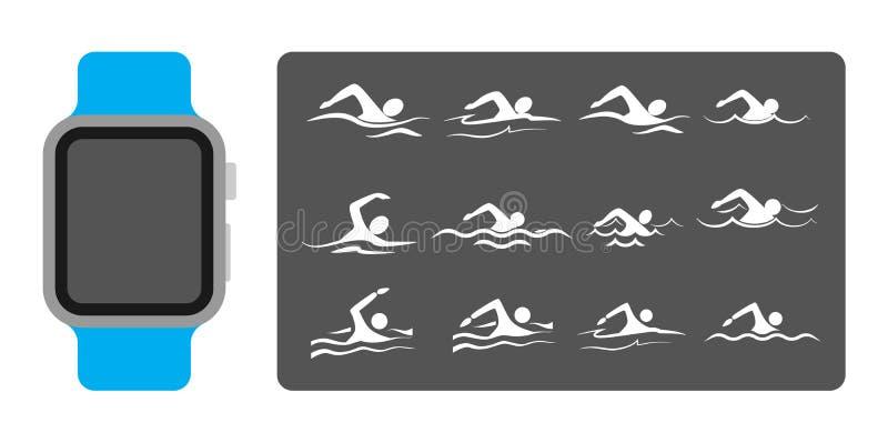 Relojes de Smart para nadar libre illustration
