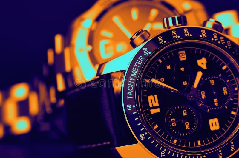Relojes del lujo fotos de archivo