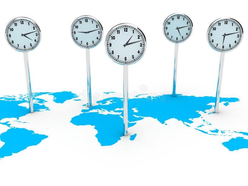 Relojes del mundo ilustración del vector