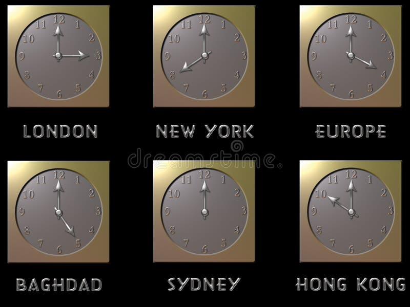 Relojes del mundo libre illustration