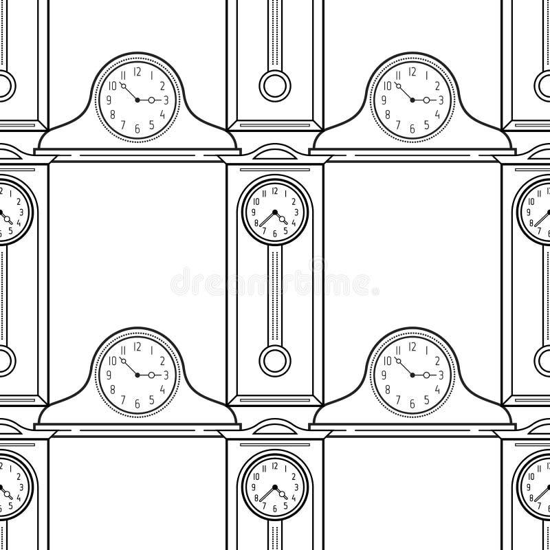 Relojes Del Reloj De Pie Y De La Chimenea Modelo Inconsútil Blanco Y ...