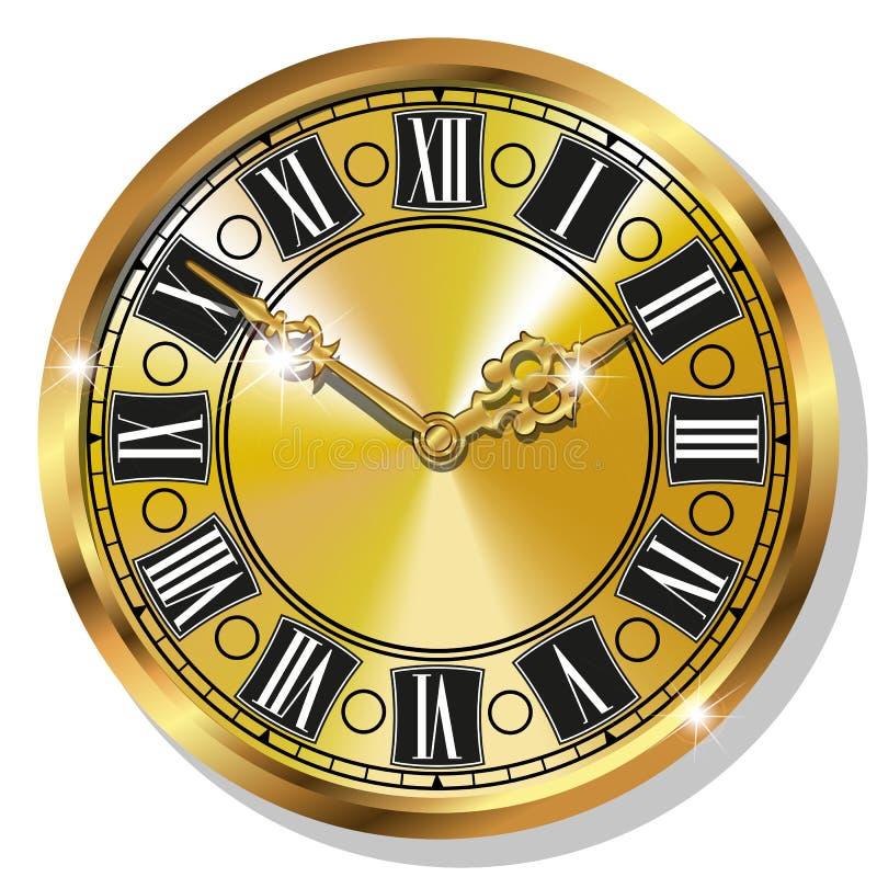 Download Relojes Del Vintage Del Oro Ilustración del Vector - Ilustración de diseño, cara: 44855991