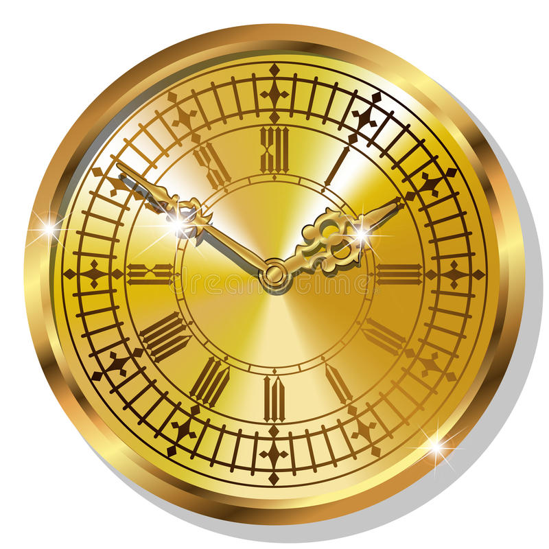 Download Relojes Del Vintage Del Oro Ilustración del Vector - Ilustración de bronce, metal: 44856013