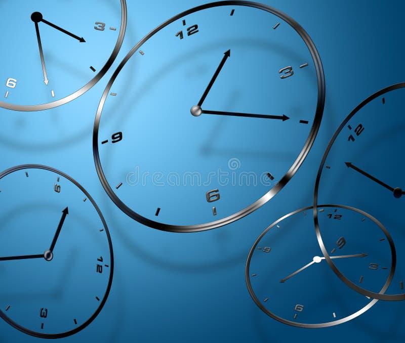 Relojes digitales abstractos foto de archivo libre de regalías