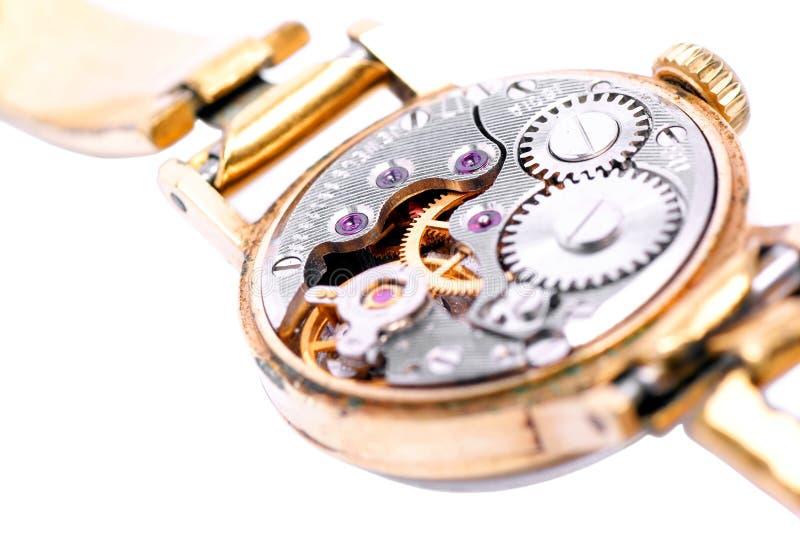Relojes mecánicos viejos. imagenes de archivo