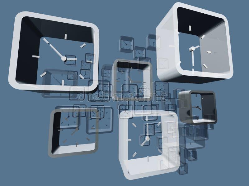 Relojes virtuales stock de ilustración
