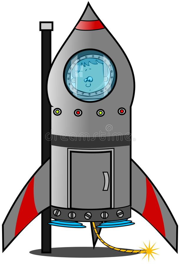 Download Reluctant boy astronaut stock illustration. Image of fuse - 38950832