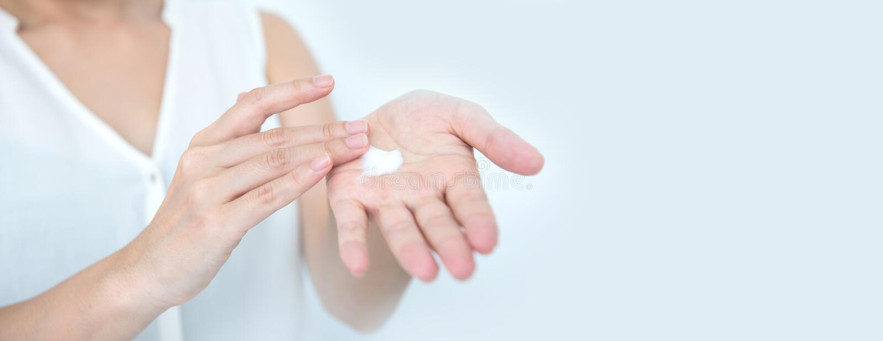 Remèdes naturels de soins de la peau Crème de crème hydratante pour la peau photographie stock