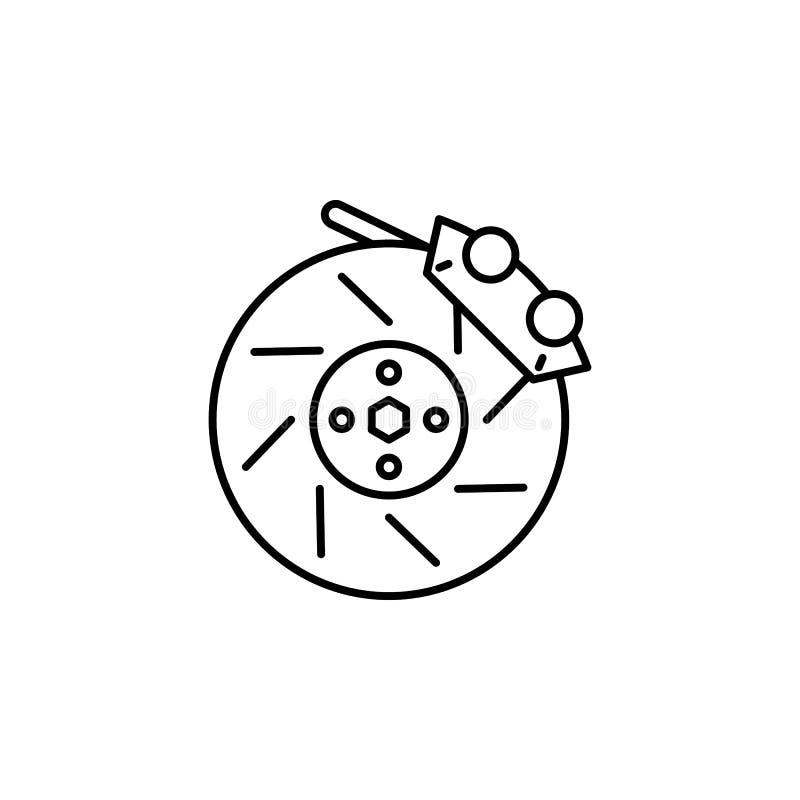 Rem, het pictogram van het wieloverzicht Kan voor Web, embleem, mobiele toepassing, UI, UX worden gebruikt royalty-vrije illustratie